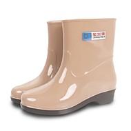 נעלי נשים-מגפיים / שטוחות-PVC-מגפי גשם-כחול / אדום / חאקי-שטח-עקב שטוח