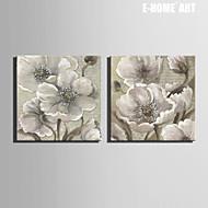 Botánico Impresión de la lona Dos Paneles Listo para colgar,Cuadrado