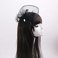 Women's / Flower Girl's Feather / Rhinestone / Tulle / Organza Headpiece-Wedding / Special Occasion Fascinators 1 Piece