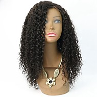 Virgin Mongolian Hair Kinky Curly Wig Short Afro Kinky Curly Human Hair  lace front wig