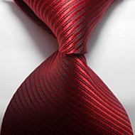Raidallinen punainen punertava jacquard-kudottu miesten solmion solmuke