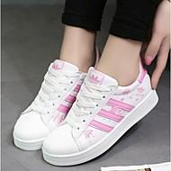 Scarpe Donna-Sneakers alla moda-Tempo libero / Casual / Sportivo-Comoda-Piatto-Finta pelle-Nero / Rosa / Viola / Dorato