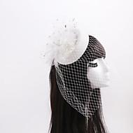 Dame / Blomsterpige Rhinestone / Tyll / Imitert Perle / Nett Headpiece Bryllup / Spesiell Leilighet / Avslappet fascinatorsBryllup /