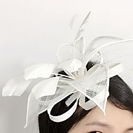 Women's Feather / Flax / Net Headpiece-Wedding / Special Occasion Fascinators 1 Piece