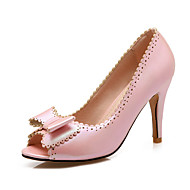 Women's Shoes Stiletto Heel Peep Toe Sandals Party & Evening / Dress / Casual Pink / Purple / White / Gold