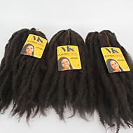 アフロ変態三つ編み かぎ針編み Kinky アフロ オームブレージングヘア カネカロン ダークブラウン ヘアエクステンション 18inch 髪の三つ編み