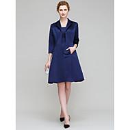 Lanting Bride® Sheath / Column Mother of the Bride Dress Knee-length 3/4 Length Sleeve Satin with