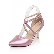 Women's Shoes Leatherette Stiletto Heel Heels Heels Wedding / Office & Career / Party & Evening Pink / Silver / Gold