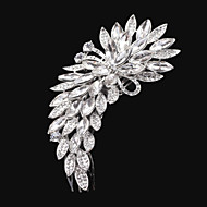 Flower style Women Alloy Hair Combs With Cubic Zirconia Wedding/Party Headpiece