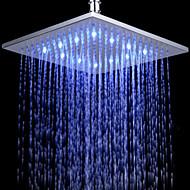 Monochrome LED Shower Nozzle Top Spray Shower Nozzle (Blue)(10 Inch)