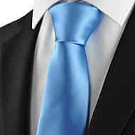 New Plain Solid Blue Mens Tie Suit Necktie Formal Wedding Holiday Gift KT1014