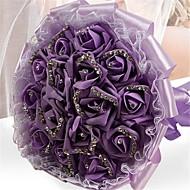 Elegant Rose Flower Handmade Wedding Brooch Bouquets Bridal Bouquet