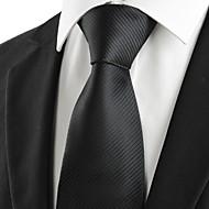 Pruhy-Kravata(Černá,Polyester)