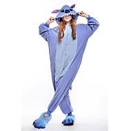 Kigurumi Pyjamas New Cosplay® / Monster Gymnastikanzug/Einteiler Fest/Feiertage Tiernachtwäsche Halloween Blau Patchwork Polar-Fleece