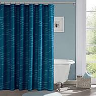 מקלחת מלבן כחול מודרני וילונות 71x72inch, 71x79inch
