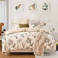 Olive Branch,  High-end Full Cotton Reactive Printing Pattern Cartoon Bedding Set 4PC, Queen/ Full Size Quality Goods