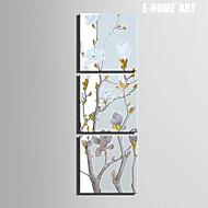 Botanisch Leinwand drucken Drei Paneele Fertig zum Aufhängen,Quadratisch