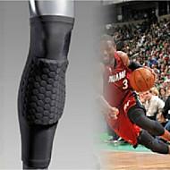 Knæstøtte Sport Support Fælles støtte / Åndbart / Passer venstre eller højre knæ / Strækkende Fitness / Basketball / LøbSølv / Sort Fade