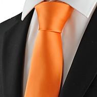 Jednobarevné-Kravata(Žlutá,Polyester)