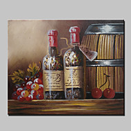 Mini Size Hand-Painted Grape Wine Abstract Modern Oil Painting On Canvas With Frame For Dinning Room Decor 20x25cm