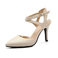 Women's Shoes Stiletto Heel Heels / Slingback / Pointed Toe Sandals Dress Black / Beige
