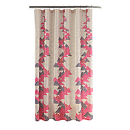 Pink Water Proof Antibacterial Shower Curtains 72x72inch(180x180cm)