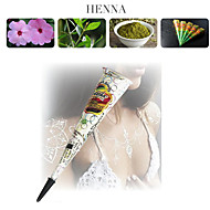 white glitter Henna Kegel Körperkunst mehandi Tinte jagua temporäre Tattoo-Set