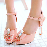 Women's Shoes Patent Leather/Spool Heels/Platform/Sling back/Open Toe Sandals Wedding Shoes/Party & Evening/Dress