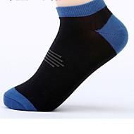 6 par menn strøk sokker tilfeldige sokker av høy kvalitet for å kjøre / yoga / fitness / fotball / golf