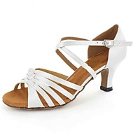 Moguće personalizirati-Ženske-Plesne cipele-Latino-Umjetna koža-Potpetica po mjeri-Crna / Plava / Crvena / Bijela / Ostalo