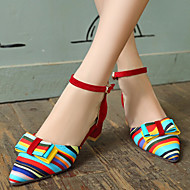Women's Shoes Heel Heels Sandals / Heels Outdoor / Dress / Casual Black / Blue / Red/C-12