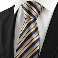 עניבה-פסים(שחור / זהב,פוליאסטר)