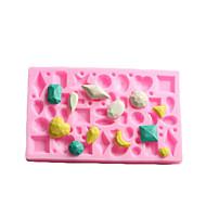 Mini Gem Shaped  Fondant Cake Chocolate Silicone Mold,Cupcake Decoration Tools,L12cm*W7.5cm*H1cm