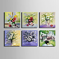 Mini Size E-HOME Oil painting Modern Flower In Vase Pure Hand Draw Frameless Decorative Painting