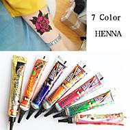 golecha pasta de henna tatuaje kit de arte corporal jagua de tinta temporal hina negro hena bricolaje