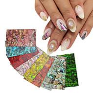 1pcs shell nail stickers-4cm*7cm each piece-PVC-Absztrakt-Ujj / Toe-Más dekorációk