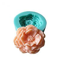 3D Pioni Flowers silikonimuottia konvehti Muotit Sokeri Craft Työkalut Suklaa Mould kakkuja