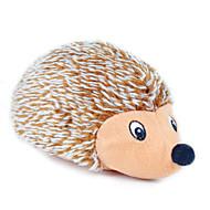 Игрушка для котов Игрушка для собак Игрушки для животных Плюшевые игрушки Скрип Ёж Текстиль Коричневый