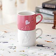 casal de café conjuntos criativos talheres copo cameo amor porcelana