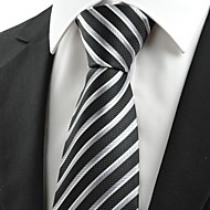 New Striped Grey Black JACQUARD Men's Tie Suit Necktie Friend Holiday Gift #0003