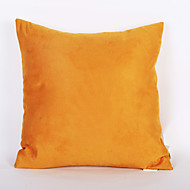 Yellow Color Suede Cushion Cover