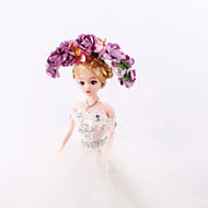 Women's / Flower Girl's Tulle / Fabric Headpiece-Wedding / Special Occasion / Casual / Outdoor Wreaths 1 Piece