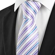 New Striped Blue Lavender Purple Mens Tie Necktie Wedding Party Groom Gift #1013