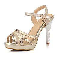 נעלי נשים-סנדלים-נצנצים / טול-עקבים / נעלים עם פתח קדמי / פלטפורמה-כסוף / זהב-חתונה / שמלה / מסיבה וערב-עקב סטילטו