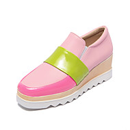 Women's Shoes Patent Leather Platform Creepers / Square Toe Loafers Casual Blue / Pink / White