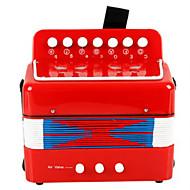 אקורדיון צעצוע מוסיקת פלסטיק אדום / ירוק / כחול / ורד