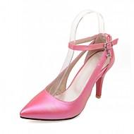 Chaussures Femme-Bureau & Travail / Habillé / Soirée & Evénement-Noir / Rose / Rouge / Blanc-Talon Aiguille-Talons-Talons-Similicuir