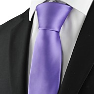 New Solid Purple Mens Tie Suit Necktie Formal Wedding Party Holiday Gift KT1020