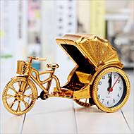 créatif alarme rickshaw rétro décoration de bureau horloge de chevet en plastique