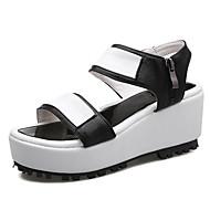נעלי נשים-סנדלים-דמוי עור-פלטפורמה / קריפרס / פתוח-שחור / כסוף-שמלה / קז'ואל-פלטפורמה